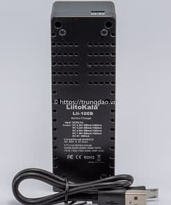 Bộ sạc pin LiitoKala Lii-100B (LiitoKala Lii-100B battery charger back-side)