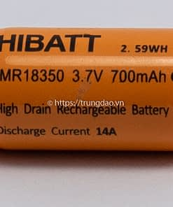 Pin HIBATT IMR18350 3.7V 700mAh (HIBATT IMR18350 3.7V 700mAh battery horizontal-side)