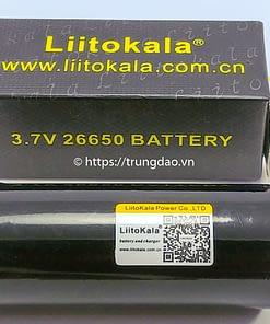 pin Liitokala 26650 5000mAh 3.7V cong sac micro usb